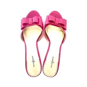 Jaclyn Smith Barbie Style Bowed Pink Sandals